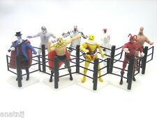 Tiger Mask Fighting Figure Roots Japan - UOMO TIGRE - 8 Pcs / Complete set / NIP