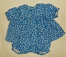 Blue + Daisy Short Sleeve Dress & Panty to fit Deluxe Reading Baby Boo Doll