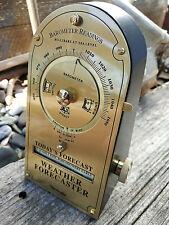 Barometre marin de bureau a cadrans laiton et bois très bel objet scientifique