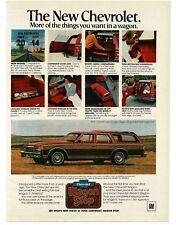 1979 Chevrolet Chevy CAPRICE Station Wagon Red w/ Wood Side Trim VTG PRINT AD