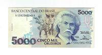 5000 Cruzeiros Brasilien 1992 UNC C220 / P.232b - Brazil Banknote