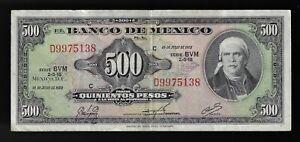 MEXICO 500 Pesos 1973 Series BVM   Pick# 51q  (CRISP)