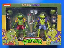 NECA Teenage Mutant Ninja Turtles RASPUTIN and GENGHIS 2 Pack Sealed Punk Frog