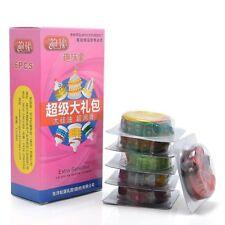 Lots 6pcs Male Condoms Sensitive Dotted Ribbed Latex Condoms Stimulate Massage