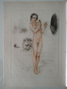 Curiosa : Suite de 5 gravures érotiques Lobel Riche / P. Louys / Bilitis / 1937