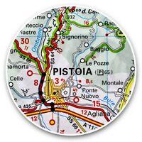 2 x Vinyl Stickers 15cm  - Pistoia Europe Italy Italian Travel Map  #46123