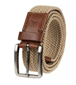 NEW Men's Tommy Bahama Woven Stretch Belt Brown or Black / Blue S/M, L/XL