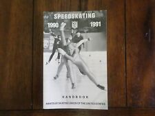 1990 1991 Speedskating Handbook Amateur Skating Union Of The United States