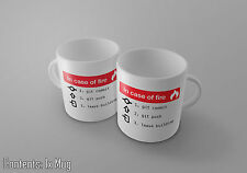 In Case Of Fire - Git / Github - Programmer Humour - Funny - Tea/Coffee Mug