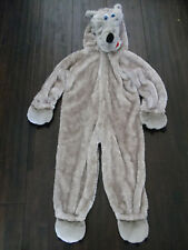 CHRISHA PLAYFUL PLUSH WARM GRAY BIG BAD WOLF HALLOWEEN COSTUME~6 7 8~EUC