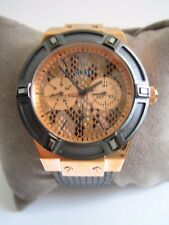 GUESS LADIES WATCH JET SETTER W0289L4 ROSE GOLD CRYSTALS LEATHER BNWT