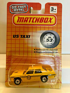 MATCHBOX U.S. TAXI MB53 FORD LTD MINT ON CARD 1993