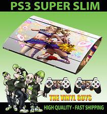 PLAYSTATION PS3 SUPER SLIM LOLLIPOP CHAINSAW LIGHT SKIN STICKER & 2 PAD SKINS