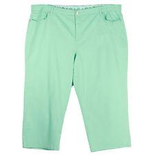JM Collection 24W Light Green Denim Tummy Control Capri Jeans NWT F/S Plus Size