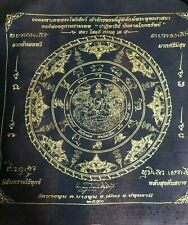 LOVE Pha Yant Jatukam Rahu Zodiac Clothe Thai Amulet Luck Rich Wealth TALISMAN