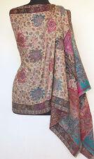 Hand-Cut Kani, Wool, Jamawar Shawl. Intricate Details. Paisley, Jamavar Wrap