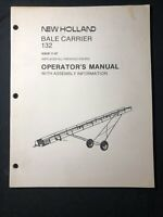 New Holland Bale Carrier 132 Operator's Manual *472, 536