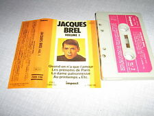 JACQUES BREL K7 AUDIO FRANCE QUAND ON A QUE L'AMOUR