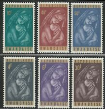 Christmas Madonna Child set of 6 stamps mnh 1965 Rwanda #137-42