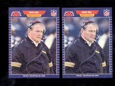 1989 Pro Set CHUCK NOLL Pittsburgh Steelers Card Lot Error + Correction