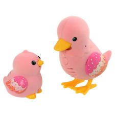Little Live Pets Tweet Talking Duck And Baby Waddle Family Pink Sing Talk Repeat