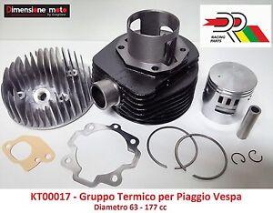 """Gruppo Termico Cilindro + Pistone """"DR"""" D63=177cc x Piaggio Vespa 150 Sprint Vel."""