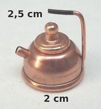 bouilloire en cuivre miniature , vitrine,maison de poupée, ketel, cuisine *CL10