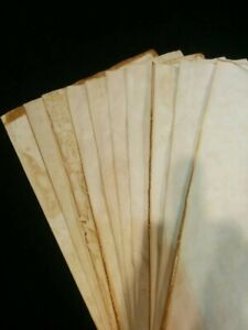 Handmade Aged Paper - A4 size - 10 sheets Tea Dyed Stained Paper for Journals