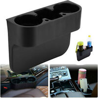 Car Seat Seam Wedge Cup Holder Drink Bottle Phone Mount Stand Storage Organizer