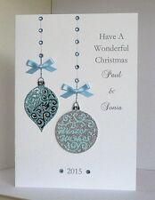 Tarjeta de Navidad esposa/esposo/amigos/hermana/Mamá & Dad Etc Personalizado