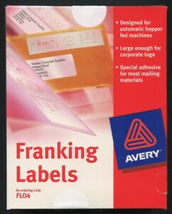 AVERY Franking Labels Box of 1000 - 149mm x 38mm - NEW UNOPENED