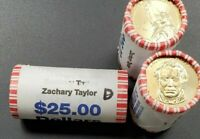 2009 D Zachary Taylor Dollar Presidential 25 Coin BU Unc String & Son Roll