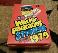 1979 Topps Wacky Packages Stickers / BOX OF 36 FACTORY SEALED WAX PACKS WITH GUM