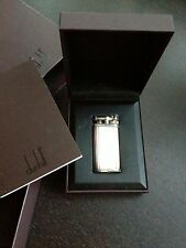 """DUHNILL Gas Lighter """"Made in England"""" silver plated"""