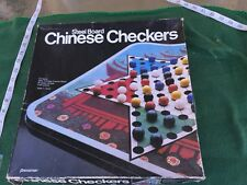 Steel Board Chinese Checkers Game by Pressman 1985 #3053 Vintage Glass Marbles