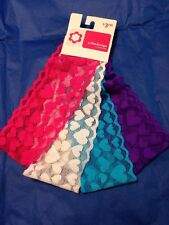 NEW Girls Accessories 4 Lace Heart Headwraps Headbands Pink, White, Blue &Purple