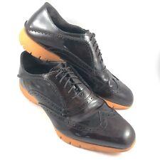 Hush Puppies Five Brogue Brown Orange Oxford Vibram Loafers Men Shoe Size 11.5