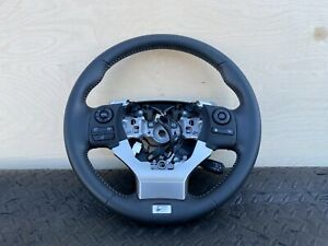 ✔LEXUS 14-16 IS250 F-SPORT STEERING WHEEL BLACK LEATHER ASSEMBLY OEM