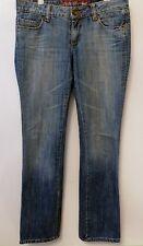 Pantalon MANGO T40 - Jean bleu délavé coupe droite (1603017)