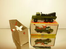DINKY TOYS 620 BERLIET NORD R20 MISSILE LAUNCHER - ARMY GREEN - EXCELLENT IN BOX