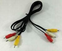 Cable AV 3x RCA Male vers 3x RCA Male 1,5 metre noir  Envoi rapide et suivi