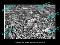 OLD 6 X 4 HISTORIC PHOTO OF CANTERBURY KENT ENGLAND, AERIAL VIEW OF TOWN c1950 5