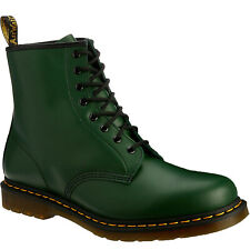Dr.Martens 1460 8 Eyelet Green Mens Leather Lace-up Casual Ankle AirWair Boots