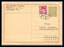 GP GOLDPATH: CZECHOSLOVAKIA POSTAL CARD 1938 _CV626_P07