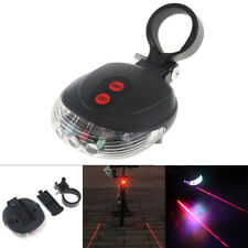 LED Bicycle Bike Tail Light Bicycle Safety Cycling Parallel Lines Laser Warning