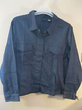 Mossimo 1X Plus Size Denim Jacket New With Tags Blue Cotton Blend   CLASSY!
