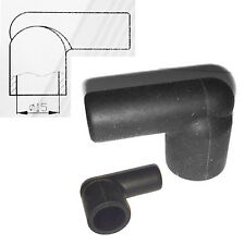10x HT Silicone PVC Isolanti per distributore COIL - 7 mm 8 mm angolo retto nero