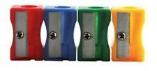 Pack of 10 Plastic Single Hole Pencil Sharpeners - School Office Sharpner