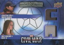Captain America Civil War Costume Card BBC-BC Sebastian Stan & Emily VanCamp