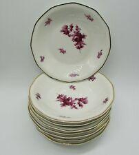 8 petites assiettes creuse Theodore Haviland porcelaine décor de rose